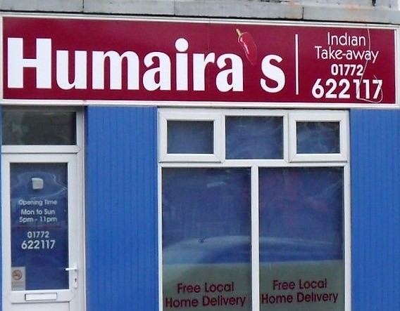 Humaira's - Indian takeaway - Lancashire