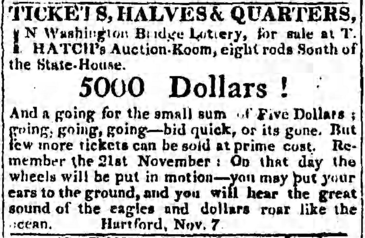 'ears to the ground' - Connecticut Courant (Hartford, Connecticut) - 7 November 1815