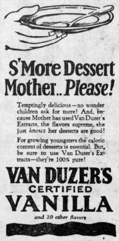 advertisement for Van Duzer's Extracts - The Minneapolis Morning Tribune (Minneapolis, Minnesota) - 28 May 1926
