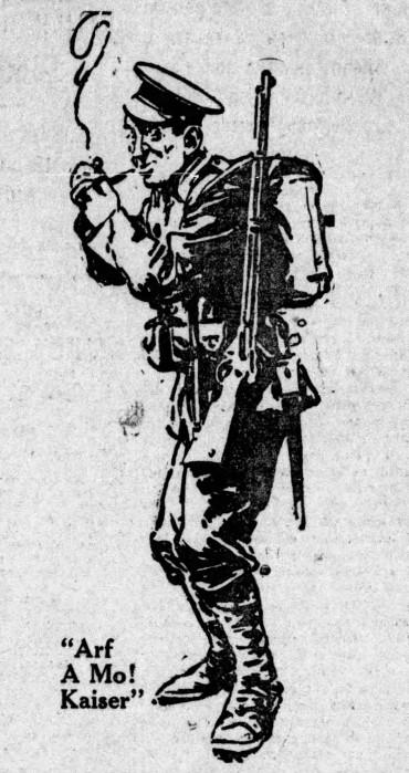 'arf a mo', Kaiser! - The Gazette (Montreal, Quebec, Canada) - 25 August 1915