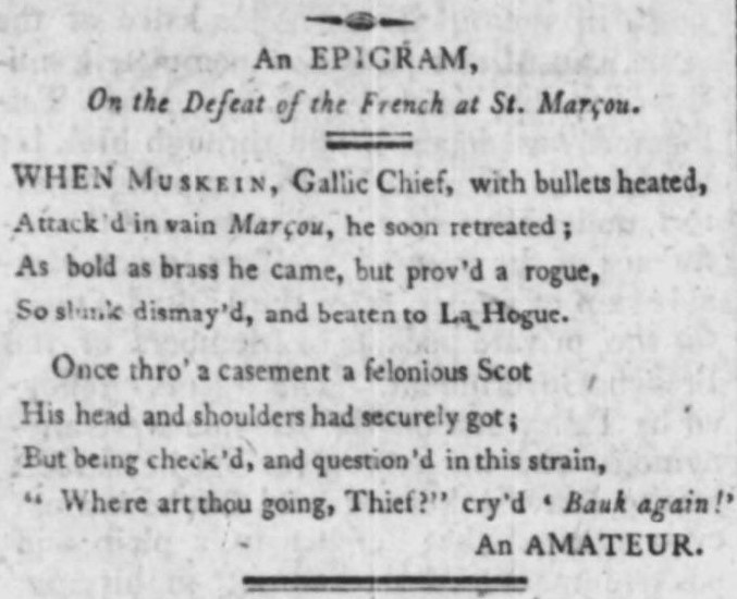 as bold as brass' - Hampshire Chronicle (Winchester, Hampshire) - 23 June 1798