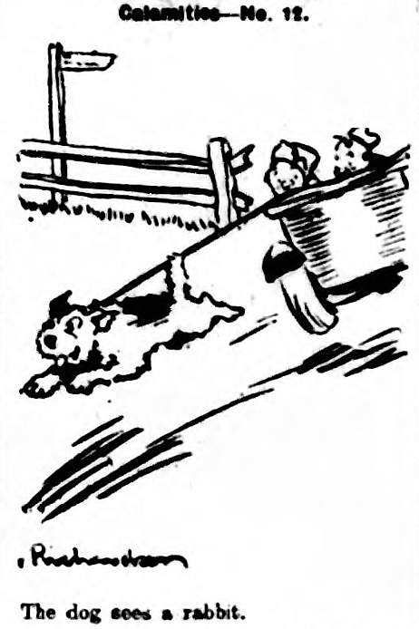 'The dog sees a rabbit.' - Yorkshire Evening Post (Leeds) - Thursday 24 July 1930