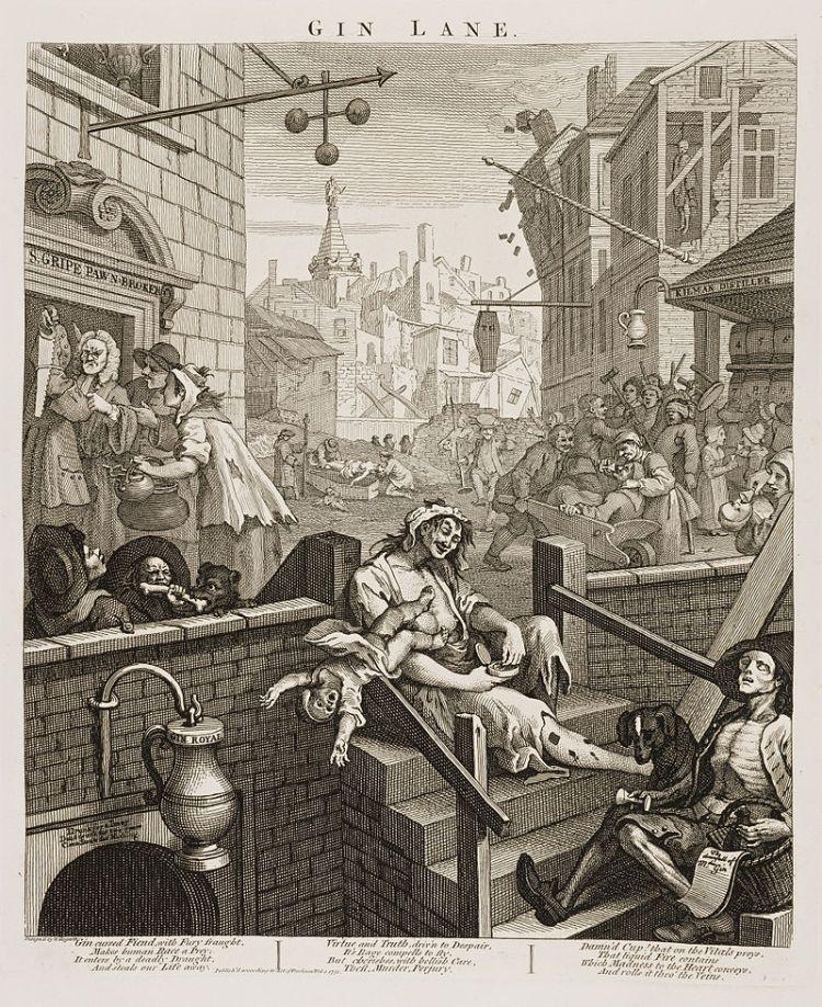 Gin Lane (1751), by William Hogarth