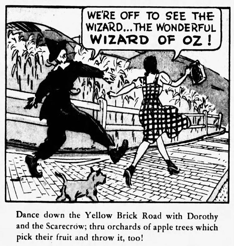 'yellow brick road' - The Wizard of Oz - San Francisco Examiner (San Francisco, California) - 20 August 1939