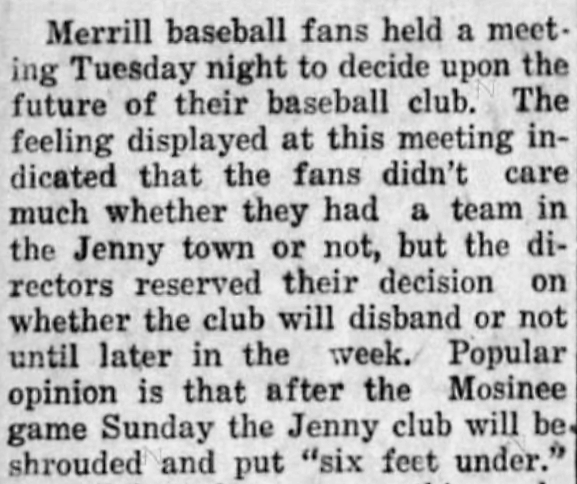 'six feet under' (figurative use) - Wisconsin Rapids Daily Tribune - 14 July 1927