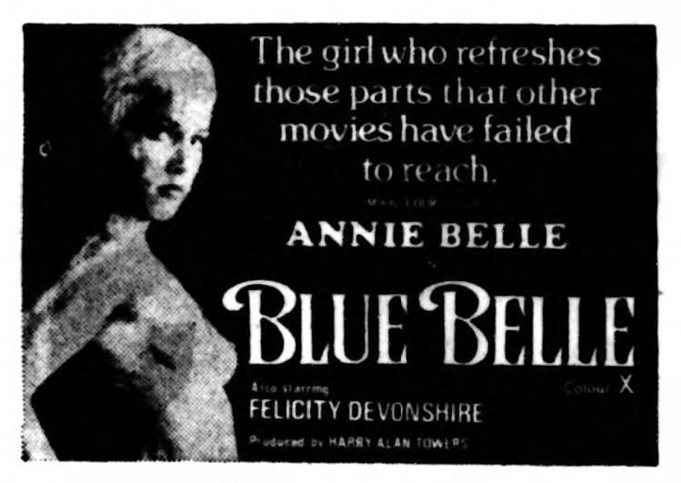 advertisement for 'Blue Belle' - Liverpool Echo (Liverpool, England) - 22 February 1977