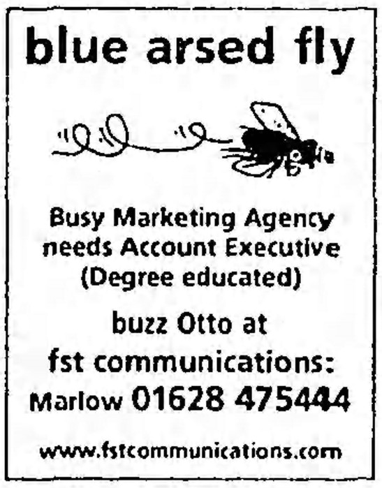 'blue-arsed fly' - The Guardian (London, Manchester) - 22 January 2000