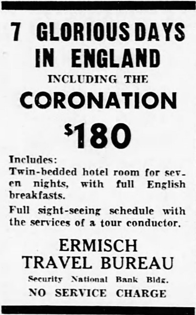 'full English breakfast' - Battle Creek Enquirer and News (Michigan, USA) - 23 November 1952