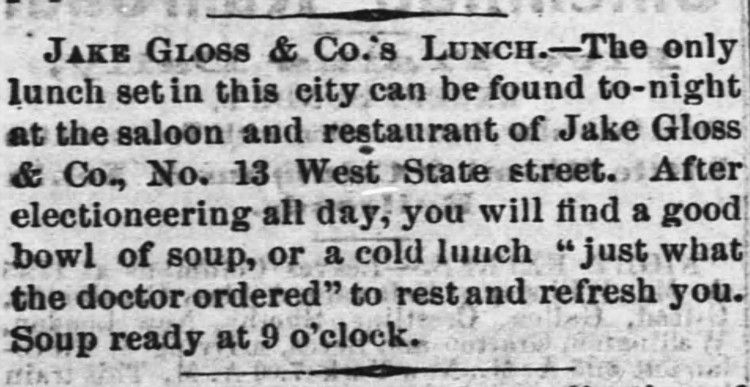 'just what the doctor ordered' - Daily Ohio Statesman (Columbus) - 1 April 1867
