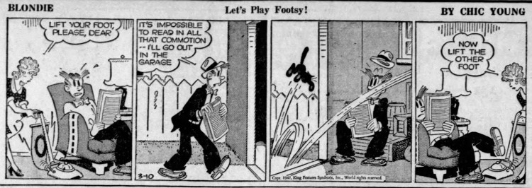 Let's Play Footsy!' ('Blondie', Chic Young) - Wisconsin Rapids Daily Tribune - 10 March 1947