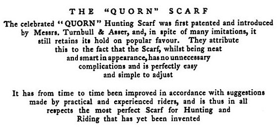 Quorn Hunt - first advertisement for Turnbull & Asser - Thoughts upon hunting (1802)
