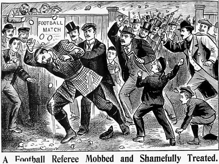 A Football Referee Mobbed and Shamefully Treated - The Illustrated Police News (London, England) - 24 April 1897