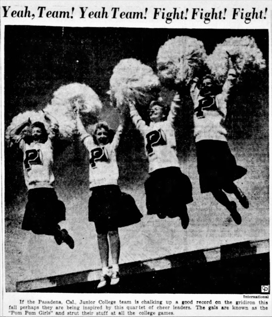 pompom girls' - Hammond Times (Hammond, Indiana) - 15 October 1945