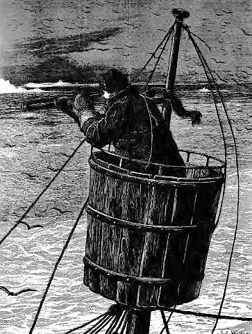 The Arctic expedition — The crow's nest - The Graphic (London) - 29 May 1875
