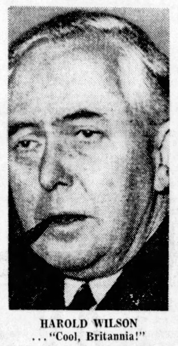 'Cool Britannia' - Harold Wilson - The Sun (Vancouver, British Columbia) - 26 August 1966