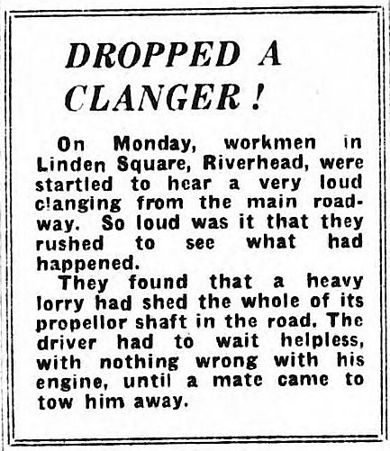 to drop a clanger' - Sevenoaks Chronicle, Westerham Courier and Kentish Advertiser - 7 April 1950