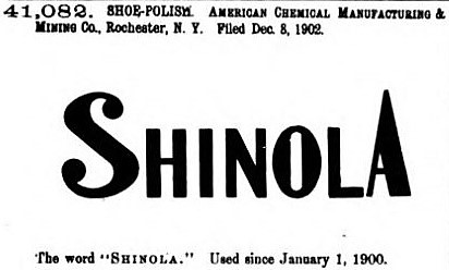 Shinola' - trade-marks registered September 8, 1903 - Official Gazette of the United States Patent Office (1904)