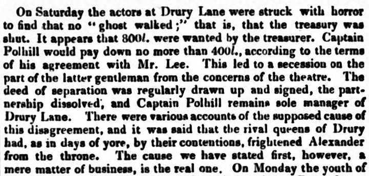 'no ghost walked' - The Atlas (London) - 29 May 1831