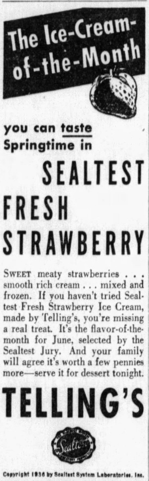 'flavor of the month' - Mansfield News-Journal (Mansfield, Ohio) - 11 June 1936
