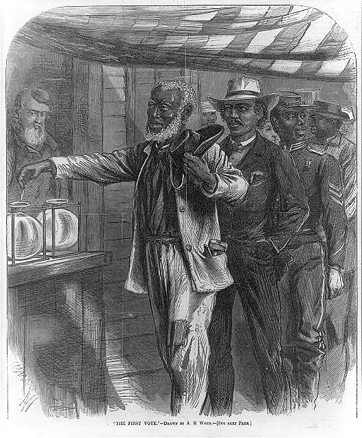 The first vote, by Alfred Rudolph Waud - Harper's Weekly - 16 November 1867