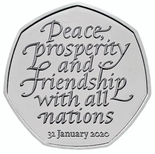 'Brexit' 50p coin - 2020