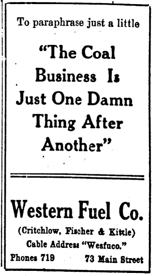 '— is just one damn thing after another' - The Salt Lake Herald-Republican (Salt Lake City, Utah) - 13 December 1909