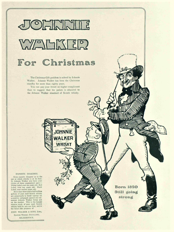advertisement for Johnnie Walker - The Tatler (London, England) - 2 December 1908