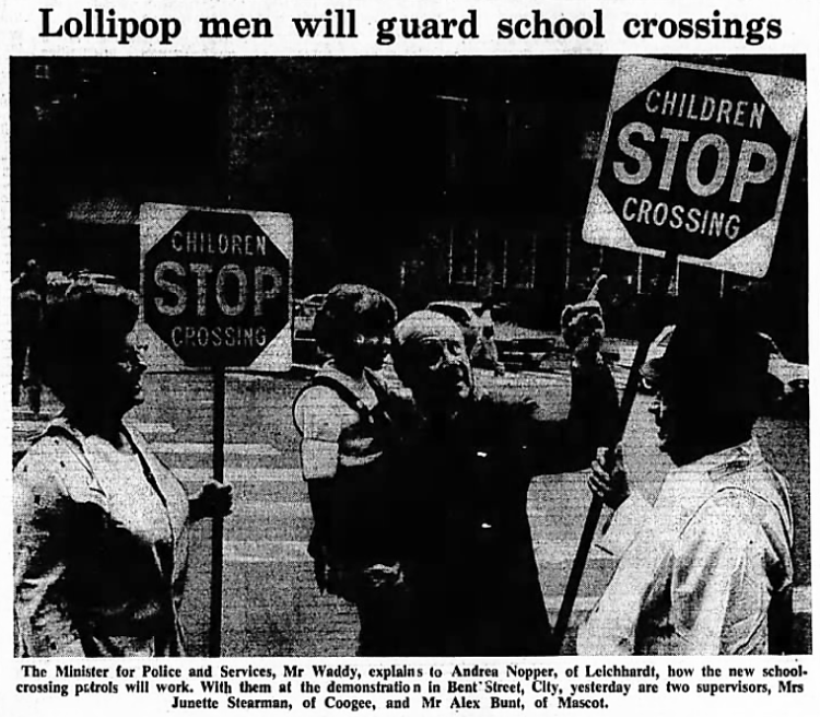 'lollipop men' - The Sydney Morning Herald (Sydney, New South Wales) - 9 May 1975