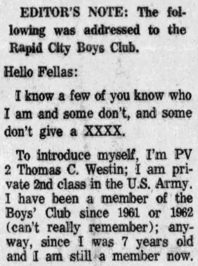 not to give a XXXX - Rapid City Journal - 8 November 1972