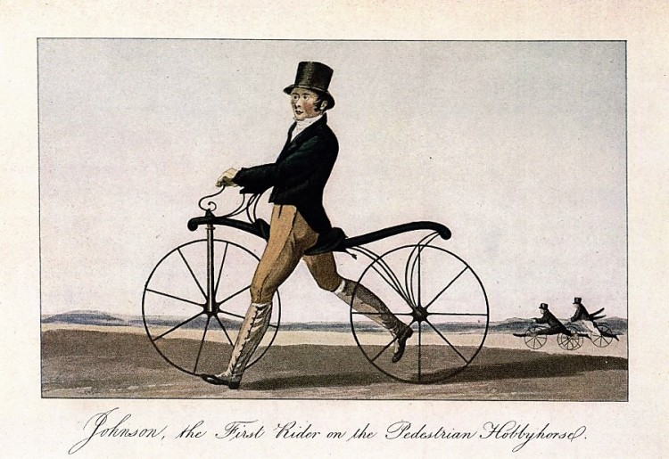 Johnson, the First Rider on the Pedestrian Hobbyhorse