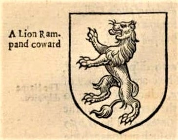 A Lion Rampand coward - from A Display of Heraldrie (1611), by John Guillim