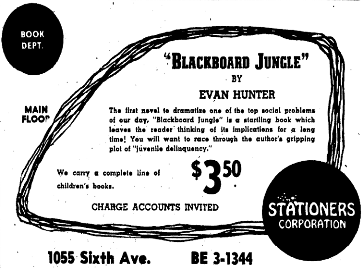 Blackboard Jungle (book) - San Diego Union (California) - 12 June 1955