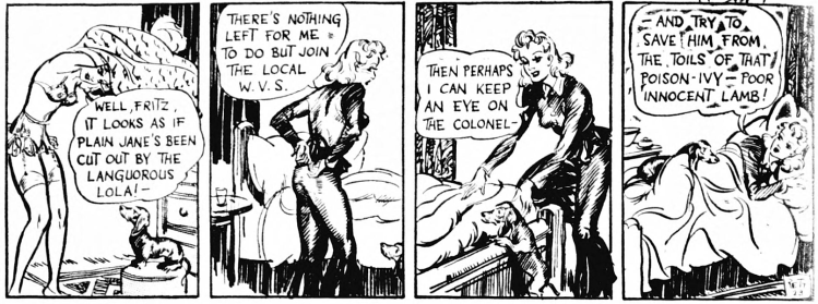 'Jane' - comic strip - Daily Mirror (London) - 8 November 1940