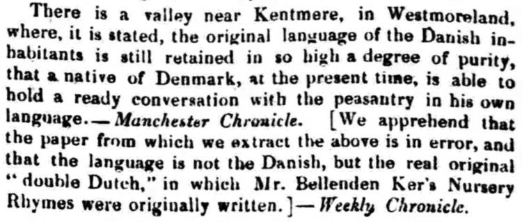 'double Dutch' - Bradford Observer (Bradford, Yorkshire) - 19 December 1839