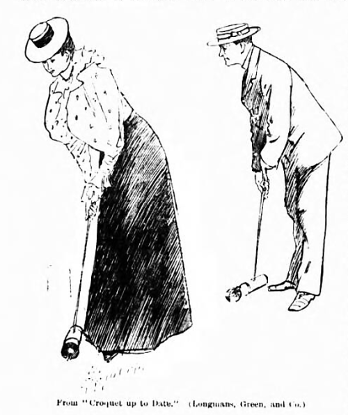 illustration from Arthur Lillie's Croquet up to Date - reprinted in The Queen (London, England) - 21 July 1900