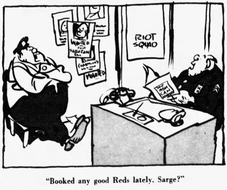 'booked any good Reds lately' - The Courier Journal (Louisville, Kentucky) - 23 July 1950