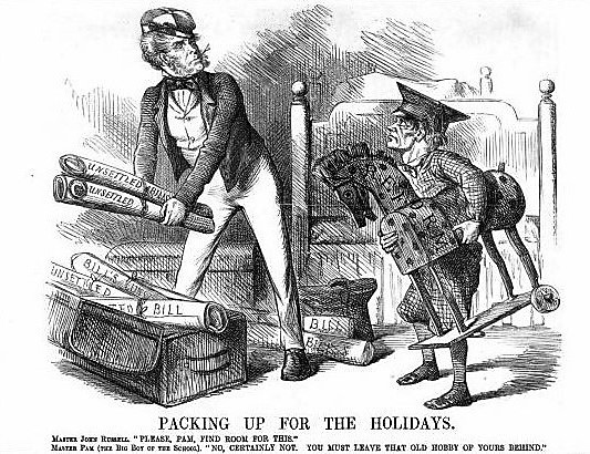 Punch, or the London Charivari - 8 September 1860 - 'hobby' (toy and favourite topic)