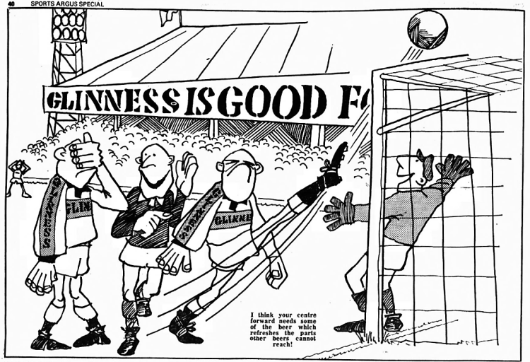 refreshes the parts other beers cannot reach' - Sports Argus (Birmingham, England) - 6 August 1977