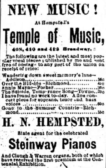 'memory's lane' - Milwaukee Daily News (Wisconsin) - 11 October 1876