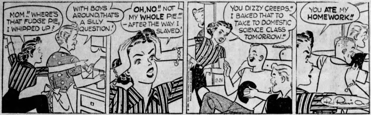 Etta Kett 'you ate my homework' - Daily Intelligencer Journal (Lancaster, Pennsylvania) - 26 December 1956