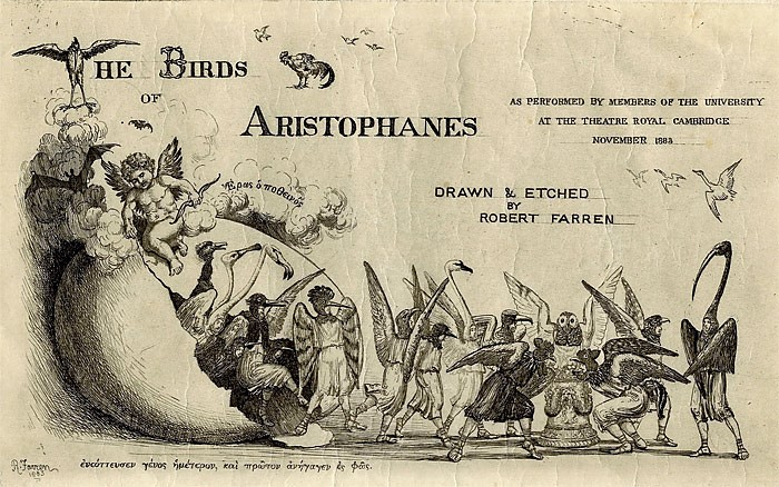 The Birds of Aristophanes - title sheet - 1883