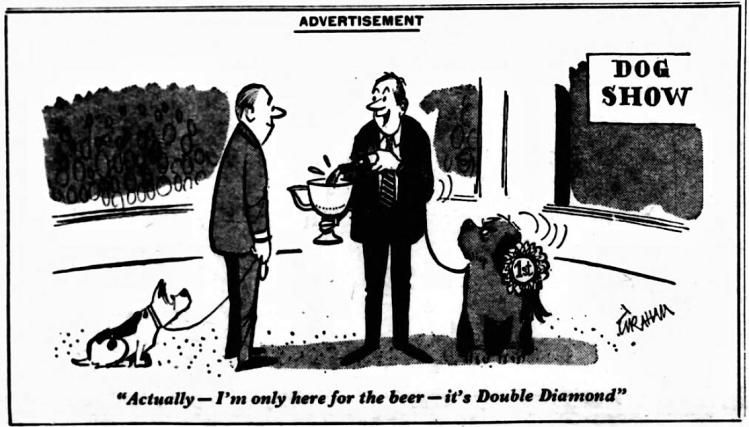 advertisement for Double Diamond 1 - Daily Mirror (London, England) - 1 November 1969