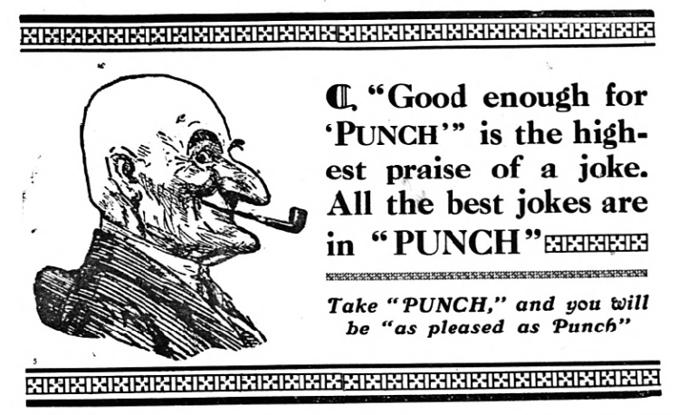 advertisement for Punch magazine - Whitstable Times and Tankerton Press (Whitstable, Kent, England) - 31 March 1928