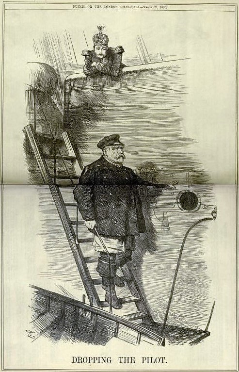 'to drop the pilot' - Punch, or the London Charivari - 29 March 1890