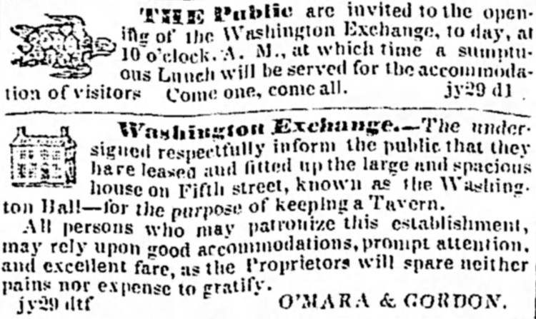 free lunch 2 - Morning Courier (Louisville, Kentucky) - 29 July 1847