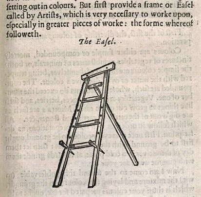 easel - The mysteryes of nature, and art (London, 1634) - John Bate