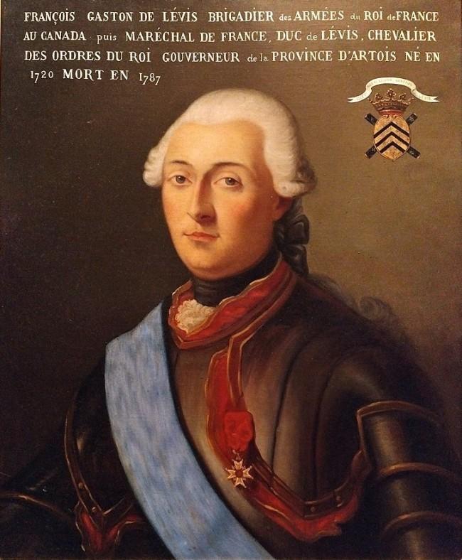 François Gaston de Lévis, by E. Trochsler