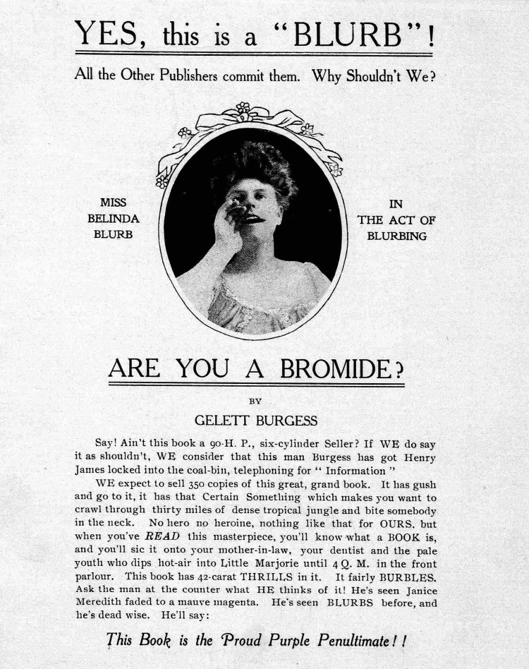 jacket of Are You a Bromide, by Gelett Burgess - 1