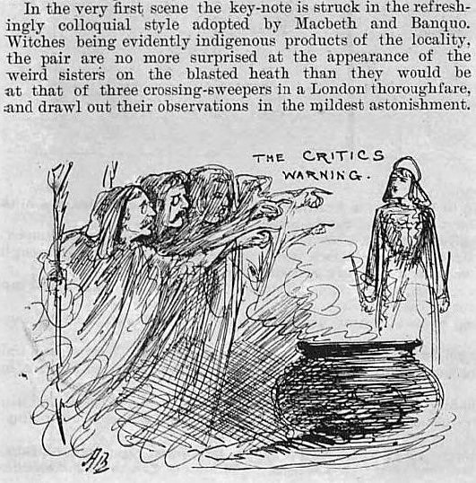 review of 'Macbeth' - Illustrated Sporting and Dramatic News (London) - 18 September 1886