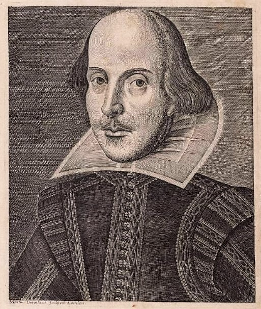 Shakespeare (First Folio, 1623), by Martin Droeshout